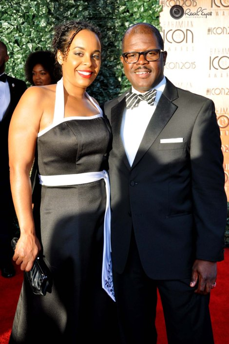 Willicey Tynes, Fine Arts Winner and his wife. Photo by Real Eyes Photography