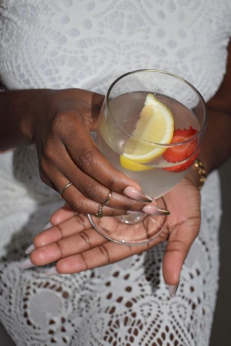 Lemon Strawberry water